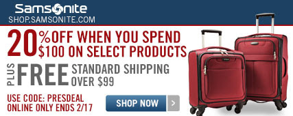 Samsonite 20% OFF Promo code
