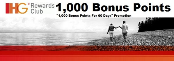 Get 1,000 Bonus Points for your next stay –  IHG Promotion Code