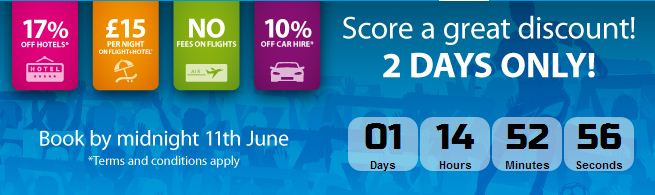 Ebookers 17% off promotion code – Book by 11 June
