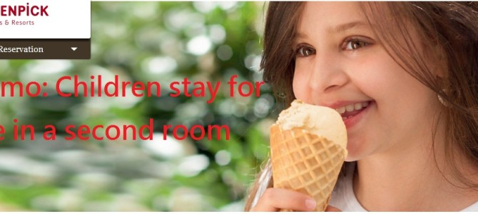 Moevenpick hotels Promo: Children stay for free in a second room and receive a welcome present