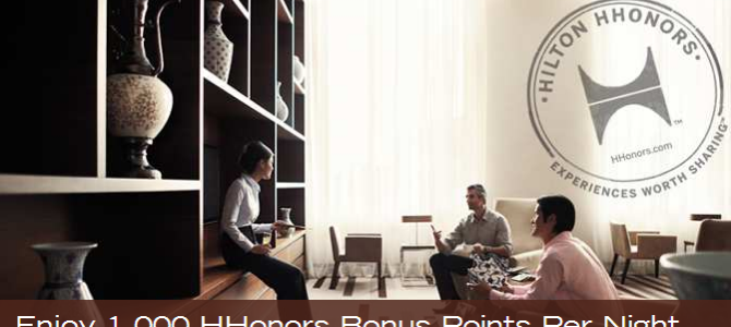 Doubletree by Hilton Johor Bahru Grand new opening promotion: Earn 1,000 HHonors bonus points per night (Book by 31 Dec 2014)