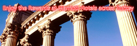 Marriott Rewards: Enjoy 2,000 extra points and 15% weekend savings at eight ideal locations throughout Turkey.