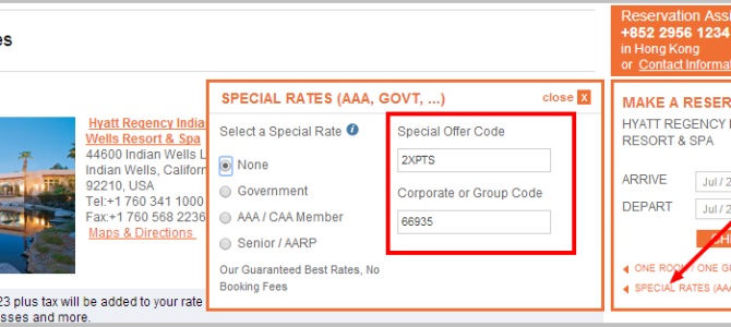 Hyatt gold passport double points promotion code
