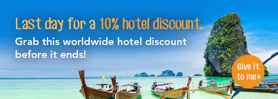Reminder: Last day to use Singapore Zuji 10% hotel discount code