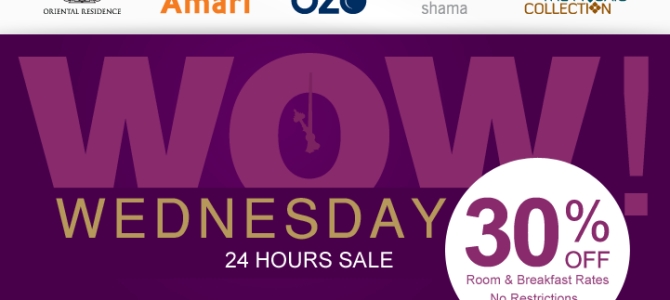 Onyx Promo: Amari, OZO, Shama 30% off 1 day flash sale