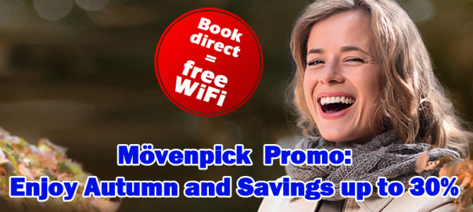 Mövenpick October Promo code: Stay 3 nights and save 30%