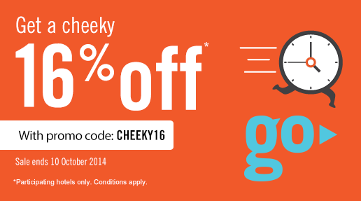 RatesToGo 16% off promotion code – Book by October 10, 2014