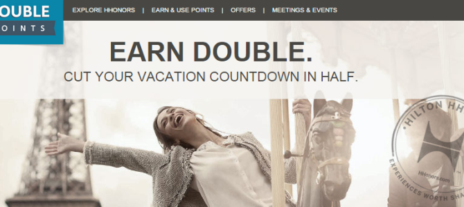 Hilton HHonors Q4 Promo: Earn double points on your second stay (No More Triple Points??!!)