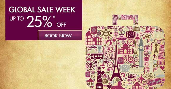 Qatar 25% off Global Promotion Week – book by November 10th