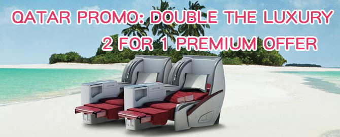 Qatar Airways business class ticket Promo: Buy 1 get 1 free