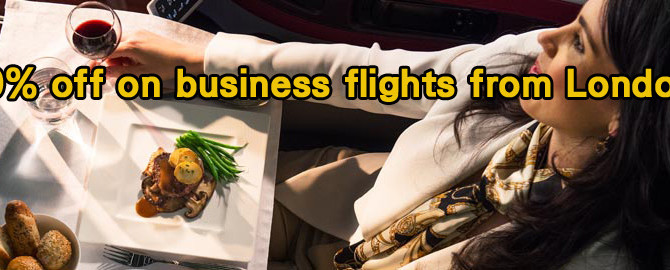 Qatar Airways:50% off on business flights from London – book by 22nd December 2014!