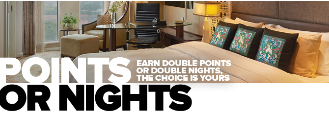 Club Carlson Double Points or Double Nights, the choice is yours!