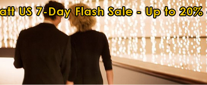Hyatt US 7-Day Flash Sale – Up to 20% off and book by December 22, 2014 11:59 PM CST