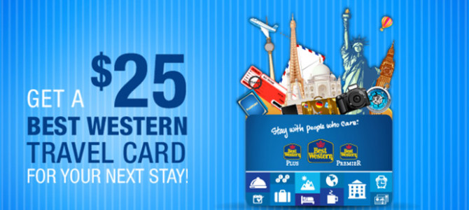 Get Free Best Western USD25 Travel Card – No requirement just put in your reward card number
