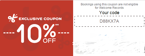 Discount coupons for hotel booking