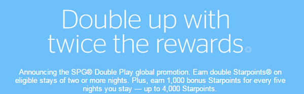 SPG announced global promotion: Double play (Register to get double points)