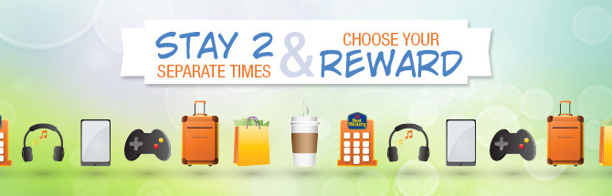 Receive $25 Amazon Gift Card or $25 Best Buy Gift Card or $25 iTunes Gift Card when you stay 2 times in Best Western Hotel