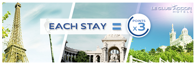 Le Club Accorhotels: Get triple points for stay in Paris (Registration is required)