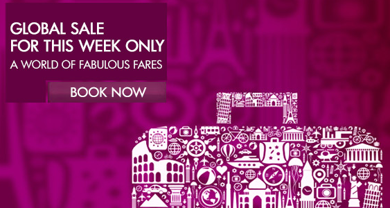 Qatar Airways global sale started – Save up to 25% off on Economy and business fare