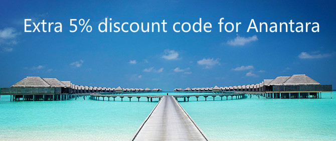 Anantara Hotels & Resorts up to 40% off + Extra 5% off discount code – Book by April 15