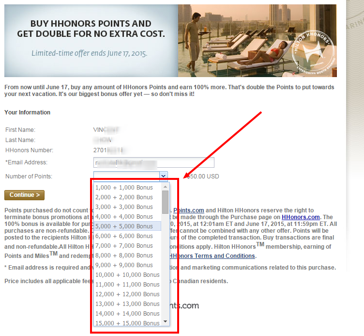 Hilton HHonors buy points 100% bonus – Buy or not to Buy ...