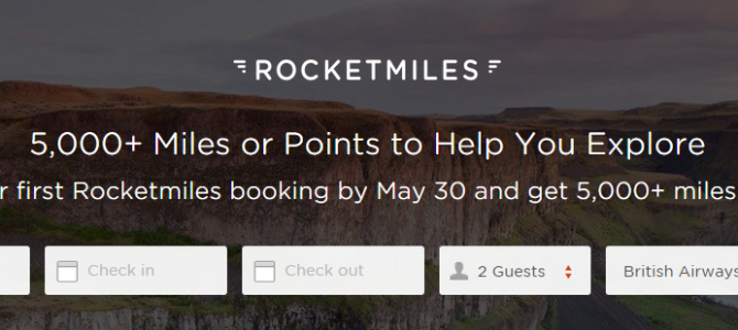 Good Deal ! Earn 5,000 miles when you book your first hotel on Rocketmiles.com
