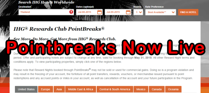 IHG 2015 May Pointbreaks has now live: Nha Trang InterContinental 5,000 points only
