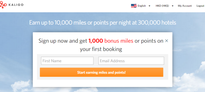 Kaligo offer 1,000 extra bonus miles when you make your first booking and sign up using referral link