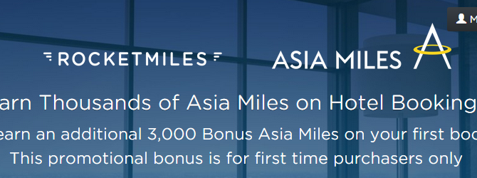 Earn additional 3,000 bonus Asia Miles/3,000 bonus Avios on your first hotel bookings on Rocketmiles – Book by July 31