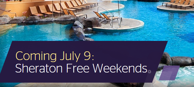 SPG Sheraton Promo Preview: Stay 5 nights and get 1 night free