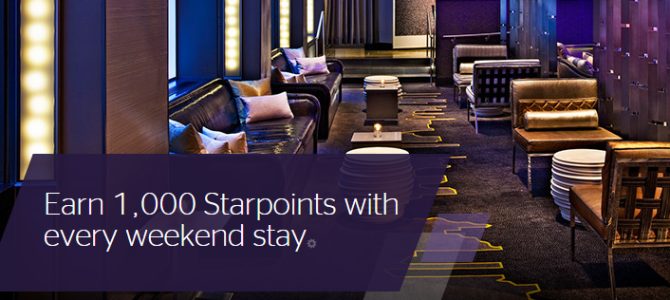 "SPG ""Make It Count"" promo – Earn 1,000 bonus Starpoints with weekend stay (Registration required)"