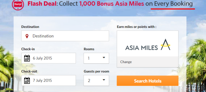Kaligo Flash Deal alert – Collect minimum 1,200 Asia Miles on every booking. Book by June 28