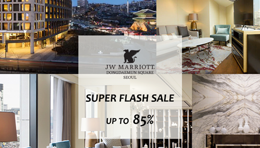 JW Marriott Dongdaemum Square Seoul up to 85% off flash sale – Book by July 31, 2015