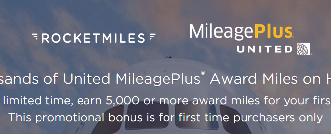 Earn 5,000 MileagePlus Miles on your first booking on Rocketmiles – Book by July 31