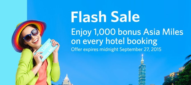 Kaligo Flash sale: Earn 1,000 Asia miles on every booking. Book by September 27.