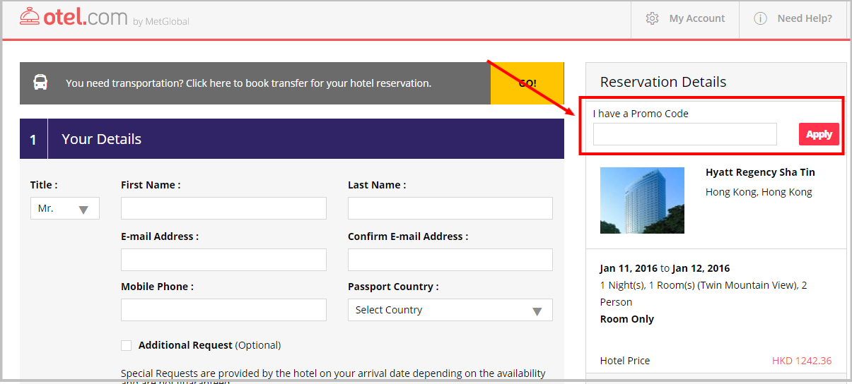 Otel com hotel booking