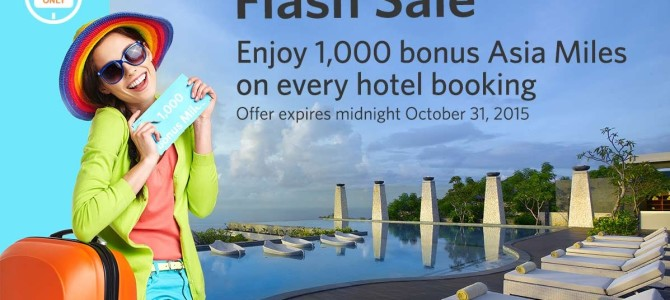 Kaligo Flash sale: Earn extra 1,000 Asia miles on EVERY booking. Book by October 31.