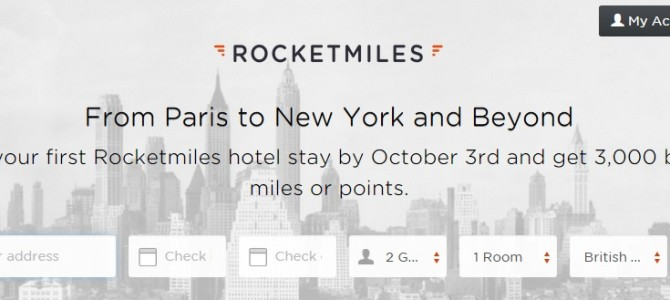 Few day only! Back Again! Rocketmiles gives 3,000 bonus miles(Any Partners) on first bookings, Act Quick.