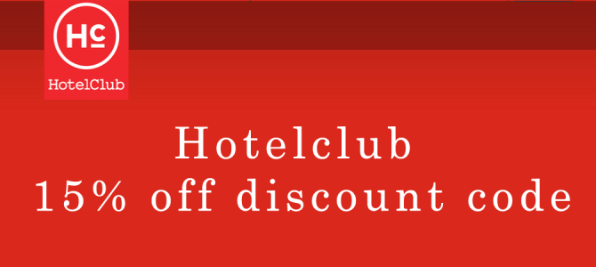 Hotelclub latest 15% off discount code – Book by October 31, 2015