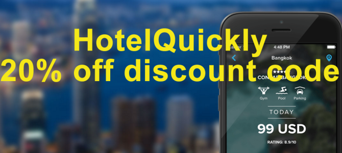 HotelQuickly 20.16% off discount code (Valid for new and existing users)