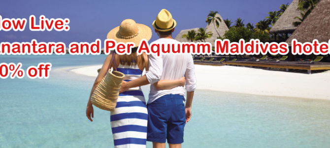 Now Live: Anantara and Per Aquum 40% off flash sale for hotels in Maldives. Rate include free breakfast for two. Book by JAN 17