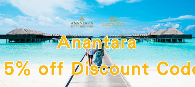 Anantara Hotel Group 15% off discount code! Working now~!