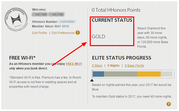 Get instant Hilton HHonros Gold status without any stay ...