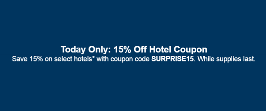 Expedia's coupons and offers range from $50 off a hotel booking, to $ off a vacation package. There are usually a couple per month, so keep checking back for all the latest coupons. There are usually a couple per month, so keep checking back for all the latest coupons.