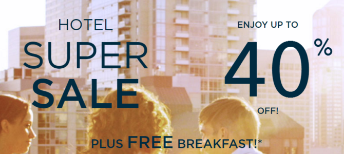 Accorhotels worldwide 40% off crazy sale(Plus free breakfast) now live – Book by October 21