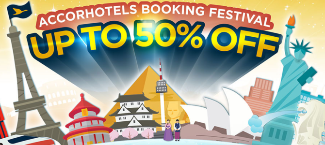 Accorhotels worldwide 50% off plus free breakfast sale started