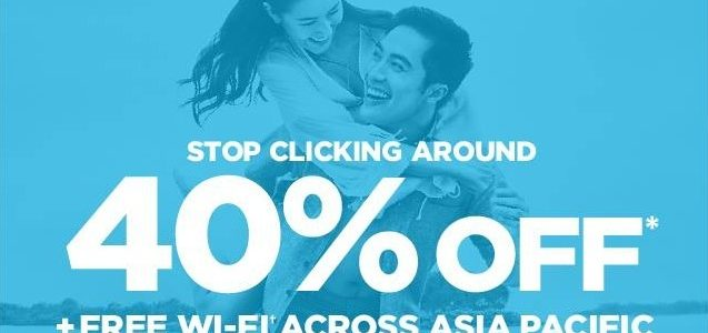 Hilton Asia Pac 40% off – Start at Nov 7
