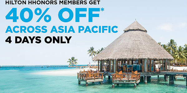 Hilton Asia Pac 40% off flash Sale – Book by December 9, 2016