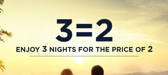 Accorhotels Pay 2 nights stay 3 nights for worldwide hotels – Book by March 28