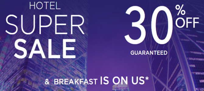 Accorhotels 30% off super sale and include free breakfast! Book by October 20.